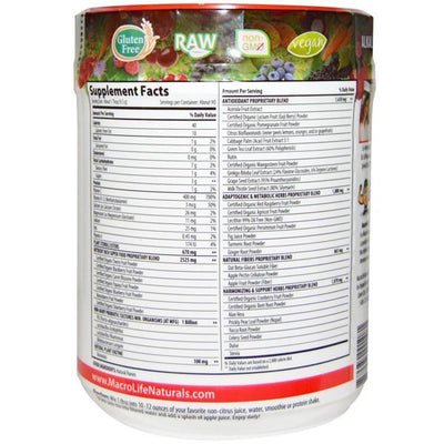 MacroLife Naturals Miracle Reds Superfood 90 Servings - Supplements.co.nz