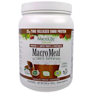 MacroLife Naturals Macro Meal Omni Ultimate Superfood 675g Chocolate - Supplements.co.nz