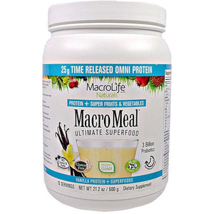 MacroLife Naturals Macro Meal Omni Ultimate Superfood 600g Vanilla - Supplements.co.nz