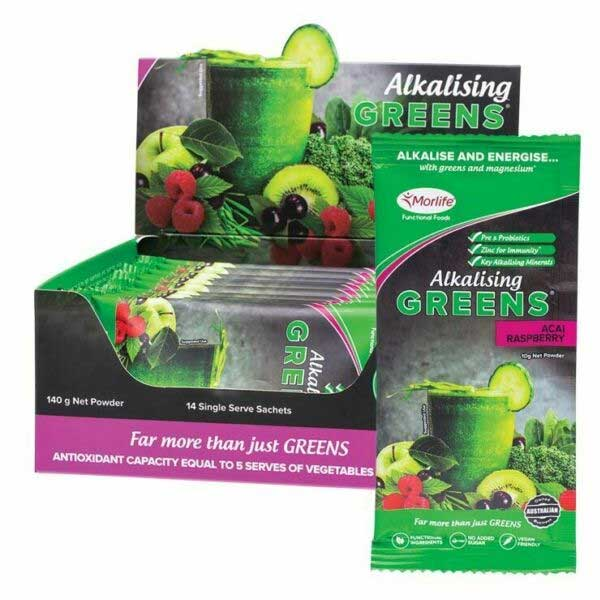 Morlife Alkalising Greens 14 Single Serve Sachets