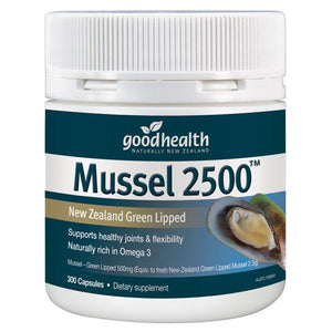 Good Health - Good Health Mussel 2500 300 Caps - Supplements.co.nz