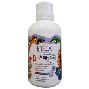 NHT Etica Kids Cal-Mag-Zinc Liquid 480ml-Physical Product-NHT-Supplements.co.nz