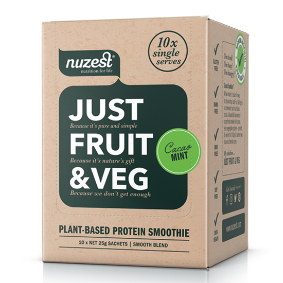 Nuzest Just Fruit & Veg 10 Sachets - Supplements.co.nz