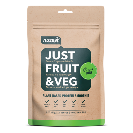 Nuzest Just Fruit & Veg 250g - Supplements.co.nz