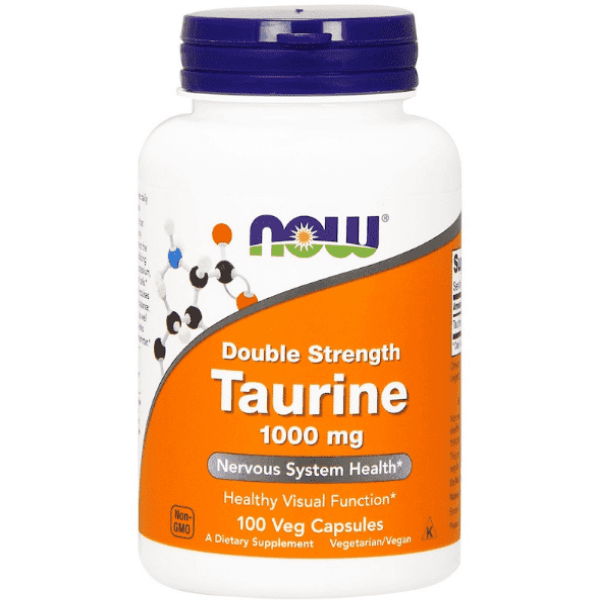 Now Foods Double Strength Taurine 1000mg 100 Veg Caps