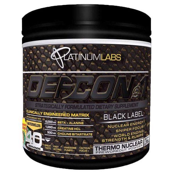 Platinum Labs DEFCON1 Black Label 40 Servings - Supplements.co.nz
