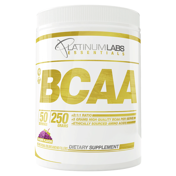 Platinum Labs Essential BCAA 250g-Physical Product-Platinum Labs-Grape-Supplements.co.nz