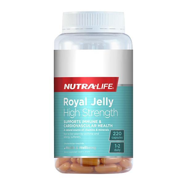 Nutralife Royal Jelly High Strength 220 Caps - Supplements.co.nz