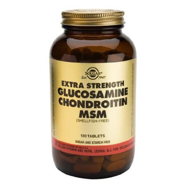 Solgar Extra Strength Glucosamine Chondroitin MSM 120 Tablets-Physical Product-Solgar-Supplements.co.nz