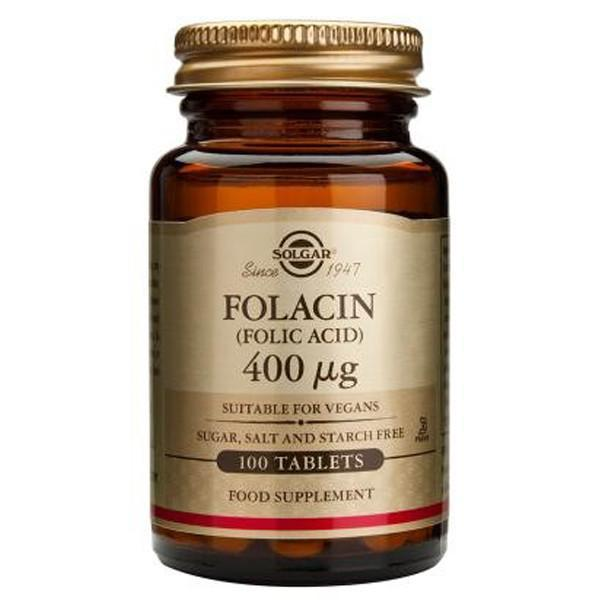 Solgar Folic Acid 400mcg 100 Tablets-Physical Product-Solgar-Supplements.co.nz