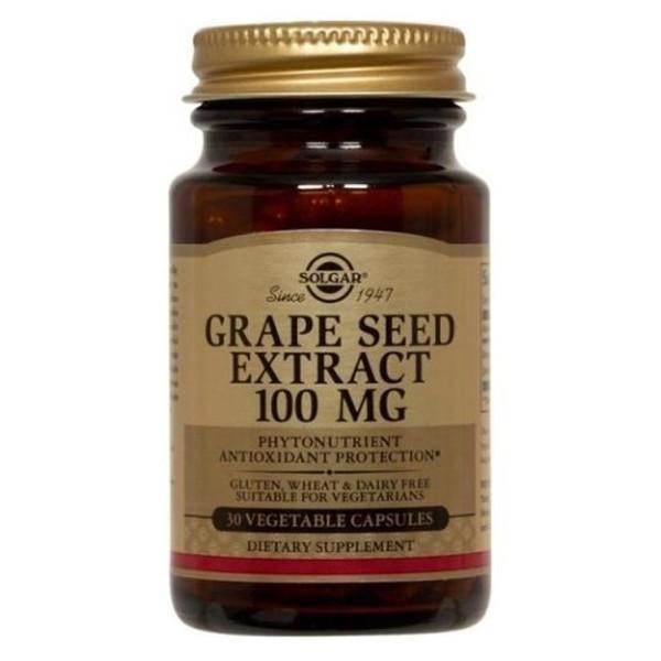 Solgar Grape Seed Extract 100mg 30 Caps-Physical Product-Solgar-Supplements.co.nz