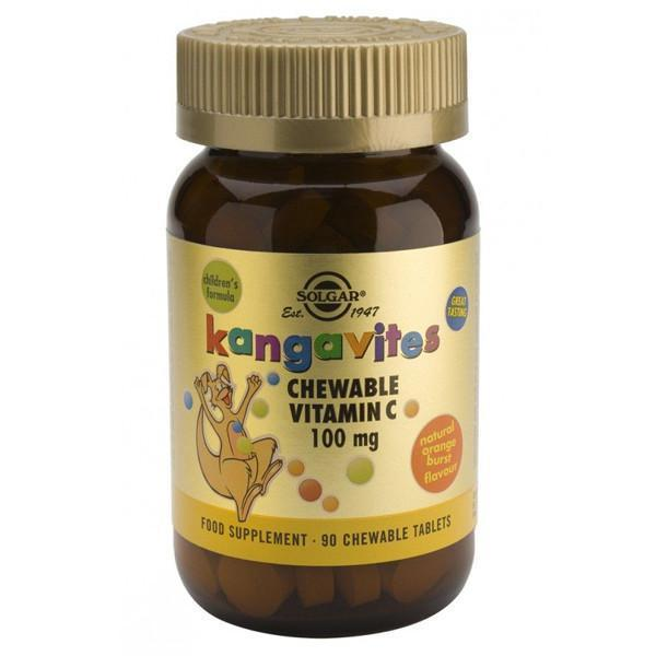 Solgar Kangavites Chewable Vitamin C 90 Tabs-Physical Product-Solgar-Supplements.co.nz