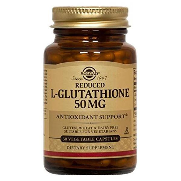 Solgar Reduced L-Glutathione 50mg - 30 Vegetable Capsules-Physical Product-Solgar-Supplements.co.nz