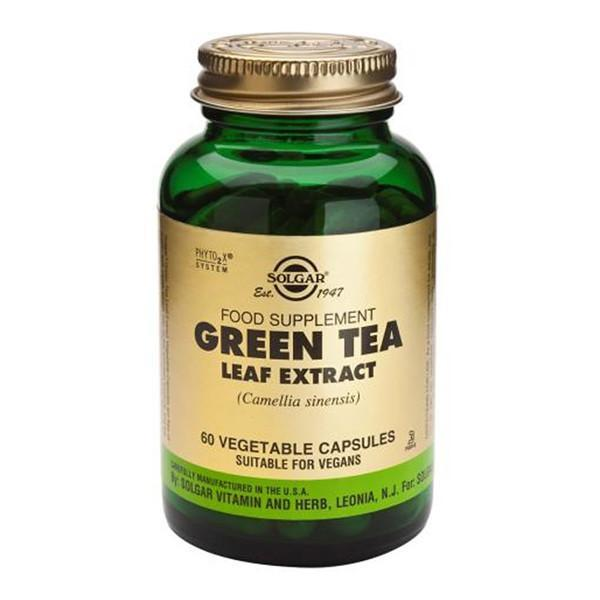 Solgar Green Tea Leaf Extract 60 Vegetable Capsules-Physical Product-Solgar-Supplements.co.nz