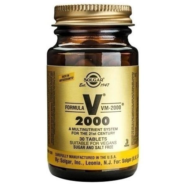 Solgar VM 2000 Multi-Nutrient 30 Tabs-Physical Product-Solgar-Supplements.co.nz
