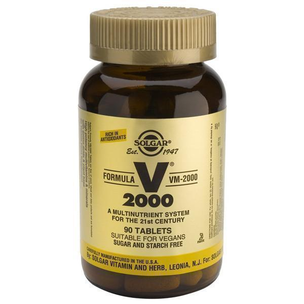 Solgar VM 2000 Multi-Nutrient 90 Tabs-Physical Product-Solgar-Supplements.co.nz