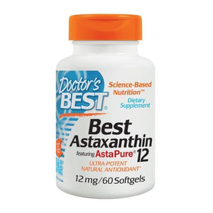 Doctors Best - Doctor's Best - Astaxanthin 12mg 60 Soft Gel - Supplements.co.nz