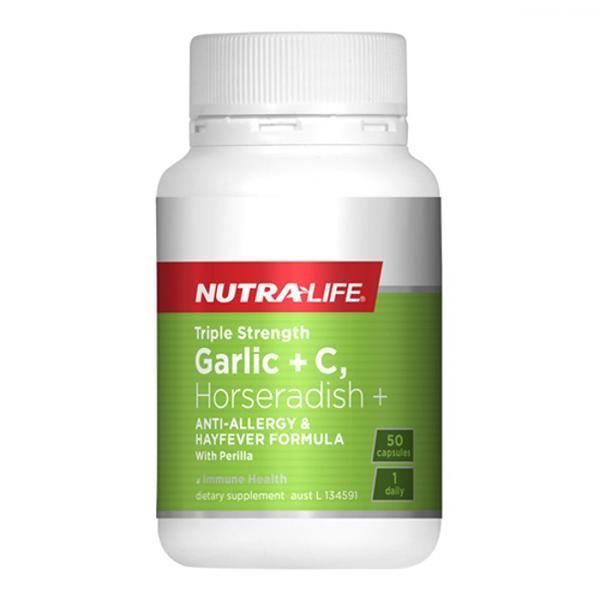 Nutralife Triple Strength Garlic + C, Horseradish, & Histidine 50 Capsules - Supplements.co.nz