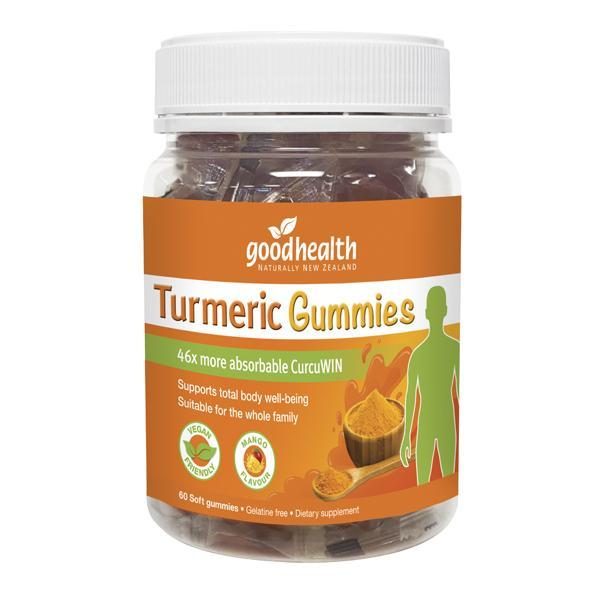 Good Health Turmeric Gummies 60 Soft Gummies - Supplements.co.nz
