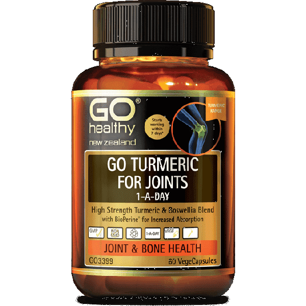 Go Healthy Go Turmeric for Joints 1-A-Day 30 Caps