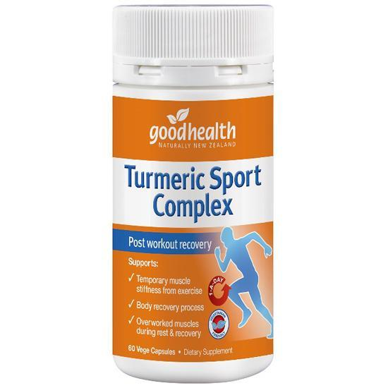 Good Health Turmeric Sport Complex 60 Capsules - Supplements.co.nz
