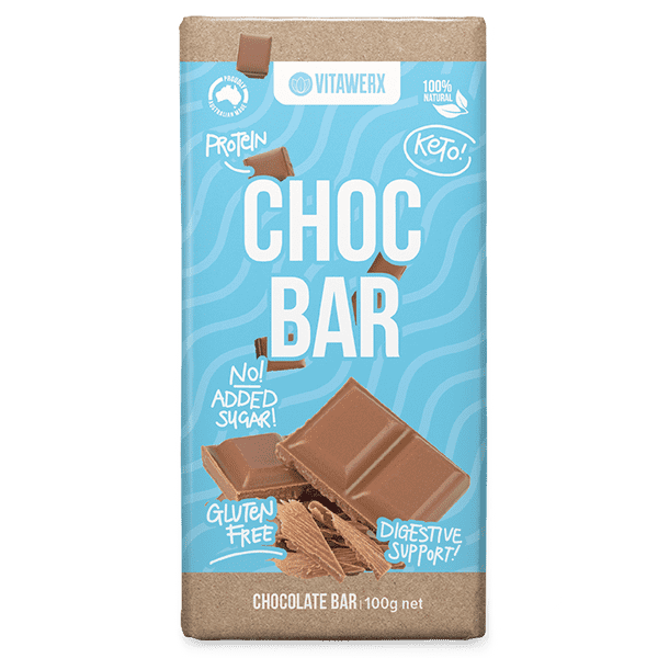 Vitawerx Milk Chocolate Bars 100g x12