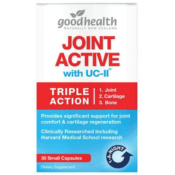 Good Health Joint Active with UC-II 30 Small Capsules - Supplements.co.nz