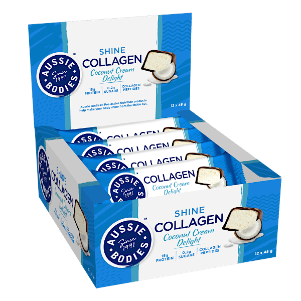 Aussie Bodies Shine Collagen Bars 45g x12