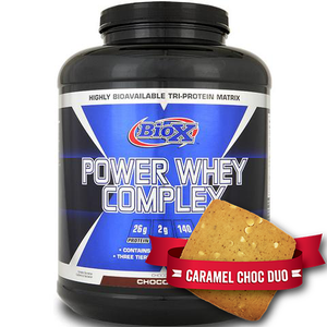BioX Power Whey Complex 5lb + Justine's Protein Cookies Combo - Supplements.co.nz