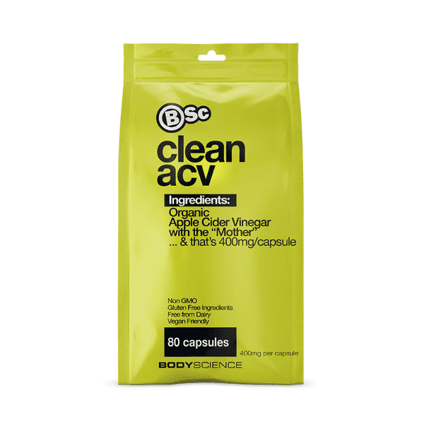BSc Body Science Clean Apple Cider Vinegar 80 Caps
