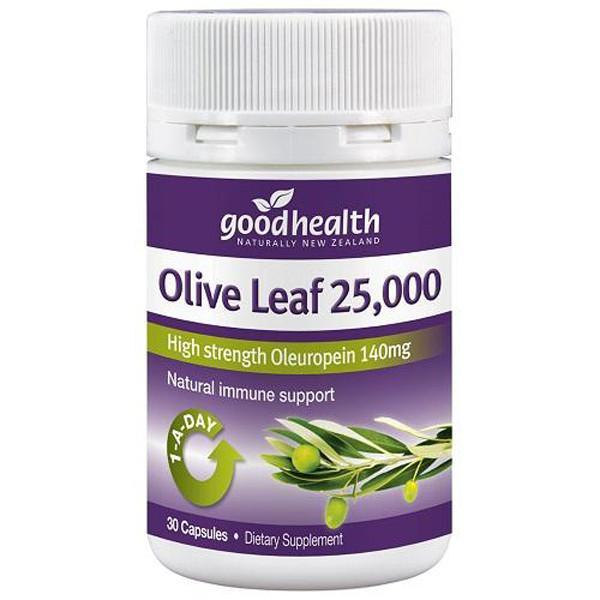 Good Health Olive Leaf 25,000 30 Capsules - Supplements.co.nz