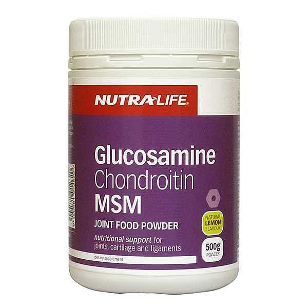 Nutralife Glucosamine, Chondroitin MSM Powder Lemon 500gm
