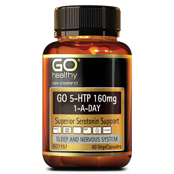 Go Healthy Go 5-HTP 160mg 1-A-Day 30 Veggie Caps - Supplements.co.nz