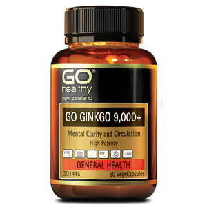 Go Healthy Go Ginkgo 9,000+ 60 Veggie Caps - Supplements.co.nz