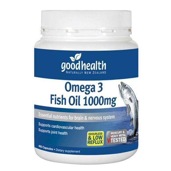 Good Health Omega 3 Fish Oil 1000mg 400 Capsules - Supplements.co.nz