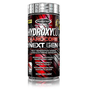 MuscleTech Hydroxycut Hardcore Next Gen 100 Caps - Supplements.co.nz