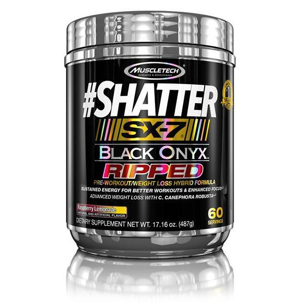 MuscleTech Shatter SX-7 Black Onyx Ripped 60 Servings - Supplements.co.nz