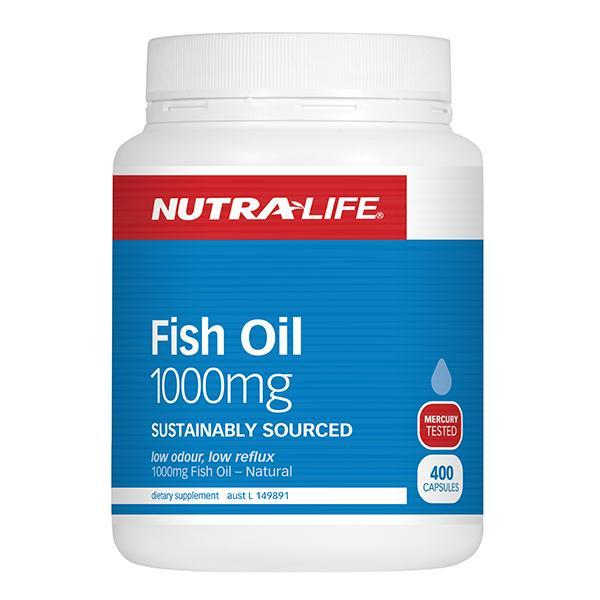 Nutralife Fish Oil 1000mg 400 Caps - Supplements.co.nz
