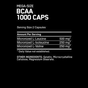 Optimum Nutrition BCAA 1000 200 Caps - Supplements.co.nz