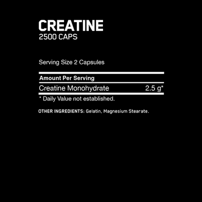 Optimum Nutrition Creatine 2500 200 Caps - Supplements.co.nz