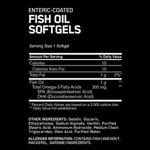Optimum Nutrition Fish Oil 100 Softgels - Supplements.co.nz