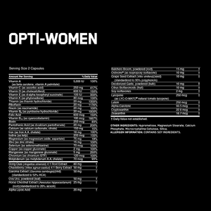Optimum Nutrition Opti-Women 120 Caps - Supplements.co.nz