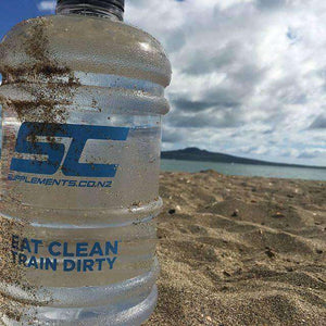 2.2 LPD Supplements.co.nz 2.2 Litre Jug enjoying the beach breeze