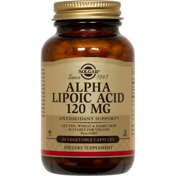 Solgar Alpha-Lipoic Acid 120Mg 60 Vege Caps + Free Pill Box Physical Product