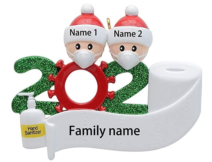 2020 Family Christmas Ornaments - Dot Com Product