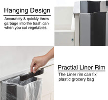 Load image into Gallery viewer, Collapsible Hanging Trash Can
