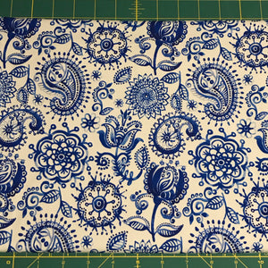 Indigo Patterns cotton lycra