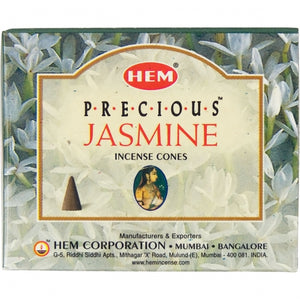 Jasmine Incense Cones (10-Pack)