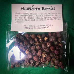 Hawthorn Berries 1oz: Faerie & Gaelic Magick