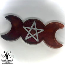 Load image into Gallery viewer, Blood Moon Offering Dish: Pentacle Moon Altar Decor